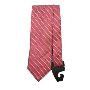 Altea Milano Silk & Flax Pink Pin-Stripe Tie
